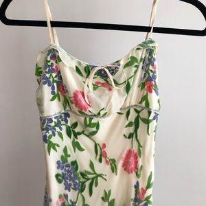 Betsey Johnson 90s Y2K Devore Floral Sequin Dress